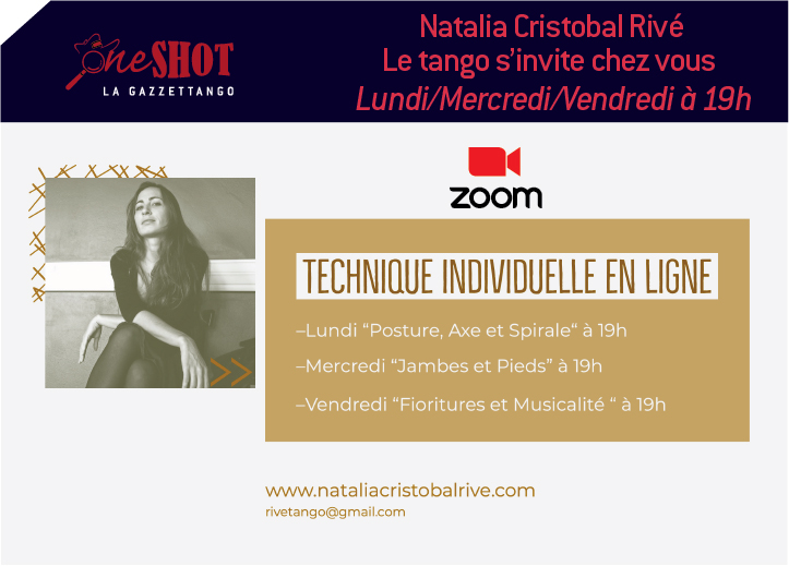 Natalia Cristobal Rive Le tango s'invite chez vous
